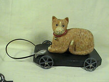Blue Sky Cat On A Trolly Cart, Pull Toy Type, Cat On A Cart