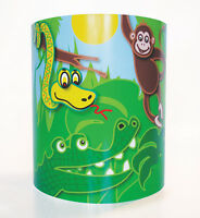 Children's Lighting Jungle Animals Lamp Shade med