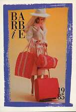 "Barbie Collectible Fashion Trading Card "" Travel Fashion Playset "" Suitcase 1985"
