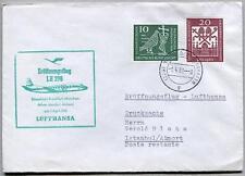 FFC 1961 Lufthansa PRIMO VOLO LH 298 - Dusseldorf Monaco Atene Istanbul Ankara