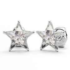 Shine Stud Earrings Ve486A Solid Sterling Silver 925 Star