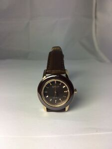 Women's DKNY Ceramic Watch  NY8641 Brown Gold Tone Stainless Steel New Battery