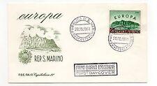 FRANCOBOLLI 1961 SAN MARINO EUROPA LIRE 500 SU FDC 20/10 D/9352