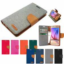 Canvas Patterned Mobile Phone Wallet Cases