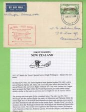 New Zealand 1932 (Mar 16) First Flight, Red Cachet, Wellington-Dannevirke