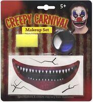 Halloween Carnaval Payaso Malvado Bufón Maquillaje Kit de Disfraz Accesorio