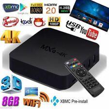MXQ 4K 2K 1080P Smart TV BOX XBMC Kodi H.265 Android Quad Core WiFi 8GB Mini DSI