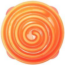 Orange Dog Food Maze Bowl Bloat Stop Fun Feeder Slow Feed Interactive Large New