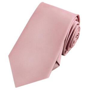 Mens Blush Dusky Pink Rose Plain Necktie Men's Dusty Pink Tie Rose Gold