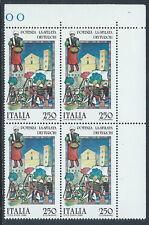 1985 ITALIA FOLCLORE POTENZA LA SFILATA DEI TURCHI QUARTINA MNH ** - C0-2