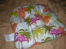 TROPICAL 100% POLYESTER INDOOR/OUTDOOR  PINK FLAMINGO PILLOW CHAIR CUSHION