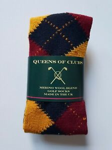 "Merino Wool Blend Golf Socks  size 6-9  woman ""Scottish Red Deer"""