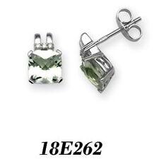 Very Good Cut Green Stud Fine Diamond Earrings
