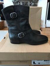 UGG Australia Women's Boots - Frances Black Leather UK 4.5 RRP £150 BNIB