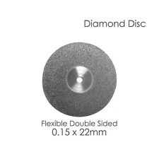 Diamond Disc For Your Dental Lab Flex Double Sided .15 x 22mm Disk