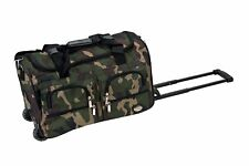 Luggage Rolling Duffle Bag Suitcase Carry on Wheels Travel Tote Shoulder Medium