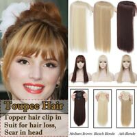 Front Topper Hair CliP In Hair Extensions Toupees Long End Hair Piece For Human