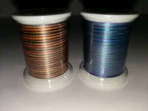 "2 Spools, Rainbows, ""Superior Thread"", Trilobal Polyester, Topstitch Thread"