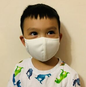Kid Face Mask Washable Cotton/ Water Resistant US SELLER [Made in Thailand]