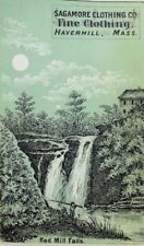 1870's-80's Sagamore Clothing Co Night Scene Moon Red Mill Falls P43