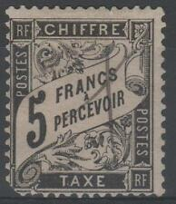 "FRANCE STAMP TIMBRE TAXE N° 24 "" TYPE DUVAL 5F NOIR "" OBLITERE A VOIR  K988"
