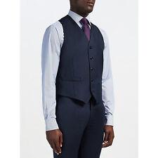 Hackett London Super 110s Pindot Chelsea Regular Fit Waistcoat Blue Size 46R  XL