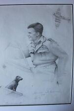AVM 'Johnnie Johnson original signed artwork portrait by Graeme Lothian