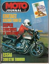 "MOTO JOURNAL N° 541 JANVIER 1982 ""SUZUKI 1100 EZ / PARIS-DAKAR / 390 KTM ENDURO"""