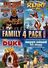 NEW 4FEATURE  DVD // AIR BUD + RENNY the FOX + THE DUKE + IMPY'S ISLAND //