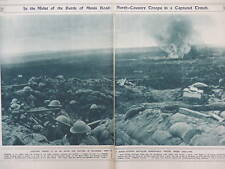 1917 BATTLE OF MENIN ROAD VELDHOEK, NORTH COUNTRY REGIMENT WWI WW1 DOUBLE PAGE