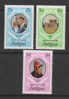 1981 Royal Wedding Charles & Diana MNH Stamps Stamp Set Antigua SG 702-704