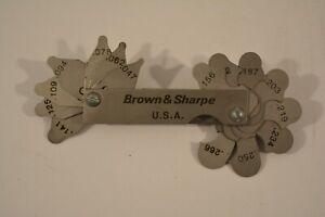 Brown & Sharpe Radius Gage .031 - .266 NEW