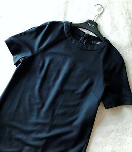 BNWT NEXT  Ladies Tailored navy work office dress knee shift stretch 10/12/14