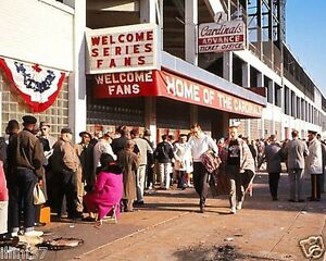 SPORTSMANS PARK ST LOUIS CARDINALS 1964 WORLD SERIES 8X10 COLOR PHOTO #2