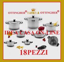 BATTERIA PENTOLE BAVARIA 18 PEZZI L'ORIGINALE INOX 18/10
