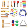 Kids Baby Percussion Educational Set Toddler Musical Instrument Toy f Boys Girls