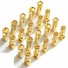 20PCS 5.5mm Male+Female Gold Bullet Banana Plug Connector For RC Battery ESC