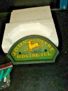 """5 1/2"""" JOHN DEERE DOOR KNOCKER COMPLETE WITH MOUNTING SCREWS - GREAT GIFT IDEA"""