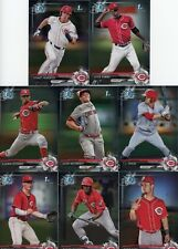 2017 Bowman Draft Chrome Reds Base Team Set (8 Cards)