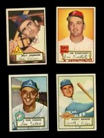 1952 Topps Lot - Billy Johnson, Jim Konstanty, Sam Zoldak, and Rocky Bridges