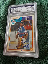 GRANT FUHR HAND SIGNED 1983 O-PEE-CHEE CARD PSA ENCAPSULATED