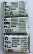 Lot of 3 -  HP C6602A Black Inkjet Print Cartridge 18ML NEW