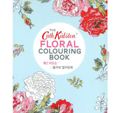 Cath Kidston FLORAL COLOURING BOOK Flower Color Therapy Fun Relax DIY Art Hobby
