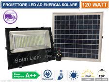 PROIETTORE FARO FARETTO AD ENERGIA SOLARE A LED FOTOVOLTAICO LUCE LED 120W