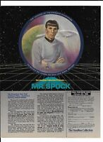 Mr. Spock Star Trek Print Ad ~ 1985 Hamilton Collection Collector Plate