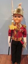 VINTAGE British GENTLEMAN IN ARMS Costume Souvenir Doll in Case 7""