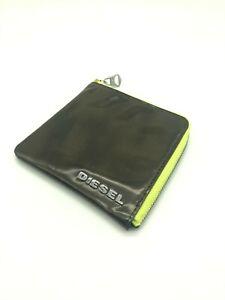 DIESEL Mens Genuine Leather ID Wallet Credit Card Holder Coin Bag RRP £120