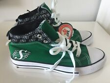 Saskatchewan Roughriders CFL Shoes Sneakers Mens Size 10 Green New