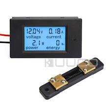 Digital Multimeter DC 6.5-100V 100A LCD Voltage Amperage Power Energy Meter