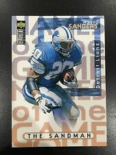 "BARRY SANDERS ""THE SANDMAN"" 1997 ""NAME OF THE GAME"" UD DETROIT FOOTBALL CARD"